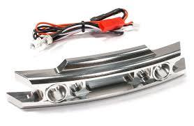 Revo Led Lights Billet Machined Front Bumper W Led Lights For Traxxas 1 10