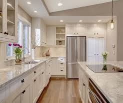 transitional kitchen lighting. fridge and panty cabinet instead of closet kitchen island with cooktop in transitional electric bright space lighting