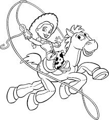 Disegno Di Jessie A Cavallo Da Colorare Per Bambini Con Disegni Di