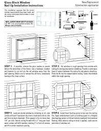 installing glass block basement windows window
