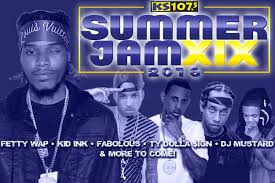 the 19th annual ks107 5 summer jam announced first wave of artists including fetty wap