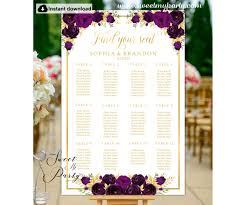 Eggplant Seating Chart Template Eggplant Seating Plan Template 19w