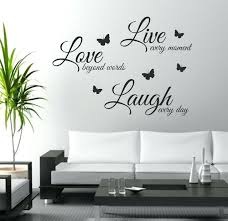 wall decoration sticker live laugh love wall art sticker e wall decor wall decal words erflies