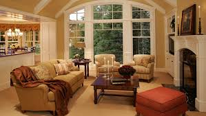 New Home Construction Cottage Style Traditional Living Room