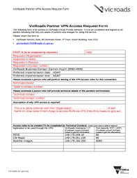 Access Order Form Template Vpn Access Request Doc Template Pdffiller
