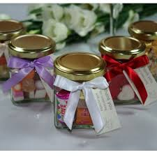 ... Wedding Favour Glass Sweet Jars with Message Tag ...