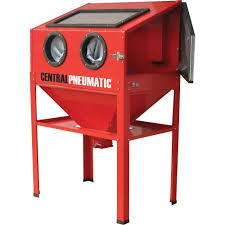Abrasive Blast Cabinet Central Pneumatic Air Sand Blasting Abrasive Blast Cabinet Glass