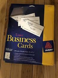 Avery 5371 Business Cards Avery White Laser Business Cards 5371 250 Card 10 Sheets