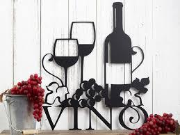 vino metal wall art wine vino wine sign