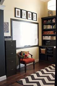 home office whiteboard. now imagine the whiteboard in this home office was glass and matched decor p
