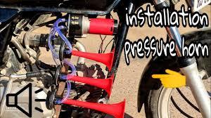 how to install air pressure horn in splendor all bikes how to install air pressure horn in splendor all bikes