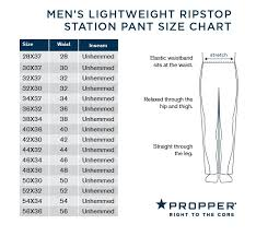 Propper Size Chart Propper F5275 Mens Lightweight Ripstop Tactical Station Pants Polyester Cotton Adjustable Waistband Classic Straight Uniform With Teflon Fabric