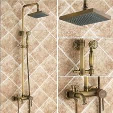 tub faucet shower attachment square 8 rain shower head tub spout shower faucet hand sprayer antique brass bathtub faucet without shower head