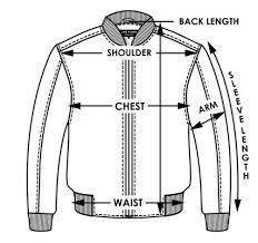 Jacket Length Chart Clothes Sizing Chart Kickstart Motorcycles