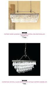 chandeliers copycatchicfind potterybarn clarissa glass drop extra long rectangular chandelier clarissa crystal drop extra long