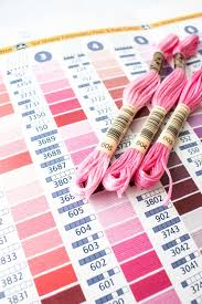 Dmc Embroidery And Specialty Thread Color Card Printed
