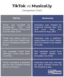 Difference Between Tiktok And Musical Ly Difference Between