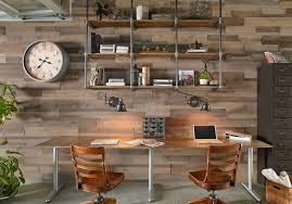 Industrial home office Gray Dwellideas Industrial Home Office Decorating Will Feel Like Office Work