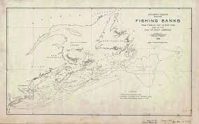 Flemish Cap Chart 1918 Nautical Chart Map Of Atlantic Ocean Fishing Banks