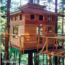 House Plans Treehouse Plans For Inspiring Unique Rustic Home How To Build A Treehouse For Adults