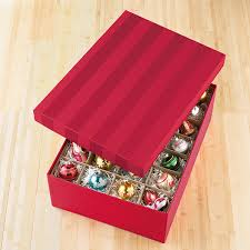 Container Store Ornament Storage Cool Red Moiré Archival Ornament Storage Box The Container Store