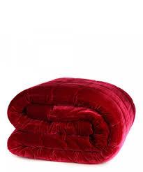 red color velvet not style of comforter