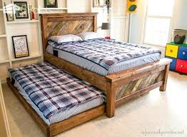 pallet bedroom furniture. Pallet Furniture Bedroom Farmhouse Bed With Rolling Trundle Diy Decorations
