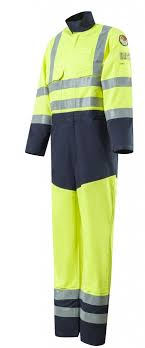 Roots Ro19095hv Flamebuster Xtreme Flame Retardant Two Tones Hi Vis Coverall