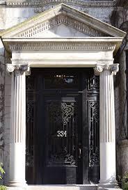 Black scroll work front door, stone facade   Doors   Pinterest ...