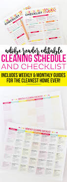 17 best ideas about home cleaning services office get your home clean and organized this adobe reader editable cleaning schedule and checklist