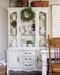 A beautifully styled china cabinet.
