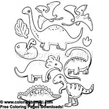 Cartoon Dinosaurs Coloring Page 1015 Coloring By Miki