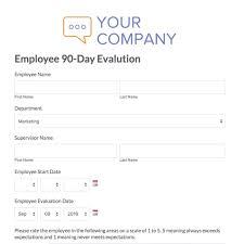 Job Performance Evaluation Form Templates Web Form Templates Customize Use Now Formstack