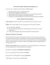 critical reading strategies critical active reading