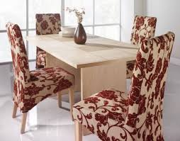 patterned dining room chair covers