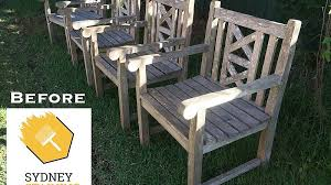 weathered teak outdoor dining chairs
