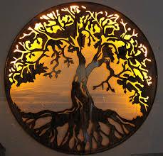 ledtreeoflife htm superb tree of life metal wall