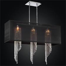 rectangular shade chandelier spiral crystal chandelier ocean wave 617em33sp b 7c
