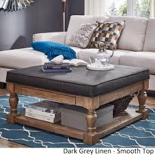 Lennon Baluster Pine Storage Tufted Cocktail Ottoman by iNSPIRE Q Artisan -  Free Shipping Today - Overstock.com - 20137488