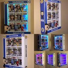 custom pop display case with led lights awesome toyz