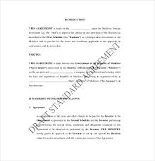 Investment Agreement Templates Investment Agreement Sample Metierlink Com
