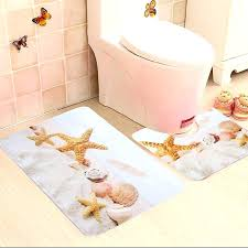 fish bath rug best bathroom star fish and beach s bath mat contour slip carpet pedestal fish bath rug