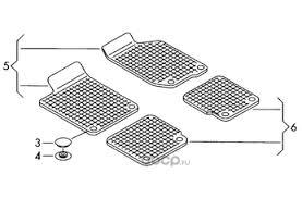 VAG 6RU061500A82V <b>комплект резиновых ковриков</b>