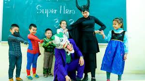 Class Superhero Baby Spiderman Go to School Elsa Student Joker.