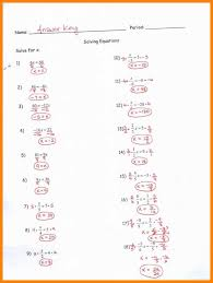 multi step equations answers two step equations worksheet with answer key 5 jpg