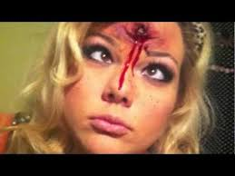 diy bullet wound liquid latex layered with toilet paper then dug out sfxmakeup