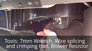 how to install a gmc sierra blower motor resistor and wiring youtube  at Ac Blower Resistor Motor Wire Harness 2006 Chevy Trailblazer