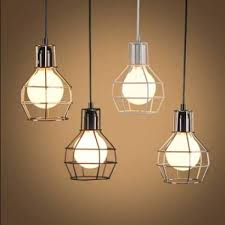 saan bibili black vintage industrial iron cage wire frame ceiling pendant light lamp e27 intl presyo ng pilipinas