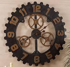 gear wall clock industrial steampunk