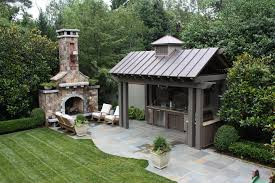 covered outdoor kitchens with fireplace. Fine With Intended Covered Outdoor Kitchens With Fireplace E
